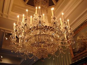 history of chandeliers