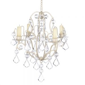 gifts and decor ivory baroque candle chandelier iron acrylic
