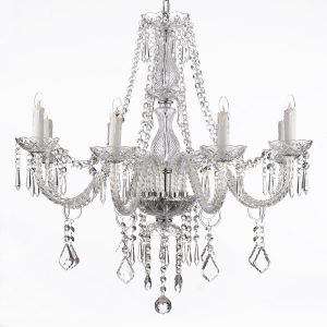 jac dlights 8 light crystal chandelier