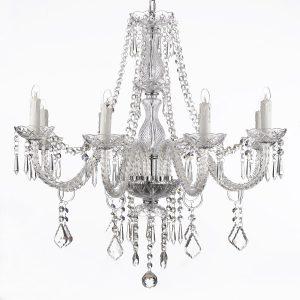 jac dlights 8 light crystal chandelier