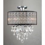 jojospring bubble shade 4 light flush mount crystal chandelier