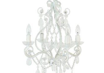 tadpoles four bulb chandelier white