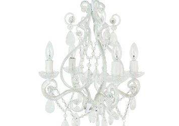 tadpoles four bulb chandelier white