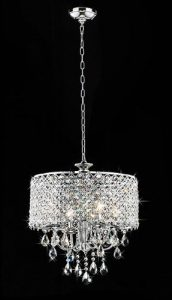 warehouse of tiffany deluxe 4 light crystal chandelier