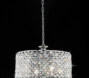 warehouse tiffany deluxe 4 light crystal chandelier
