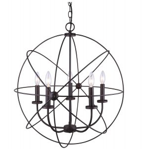 canarm sumerside 5 light orb chandelier