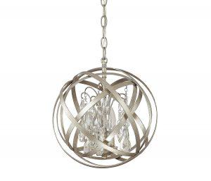 capital lighting 3 light pendant crystal orb chandelier