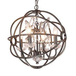 jojospring benita anqitue 4 light orb crystal chandelier
