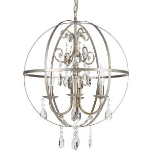 Stunning Luna Collection Orb Crystal Swag Chandelier with Lights