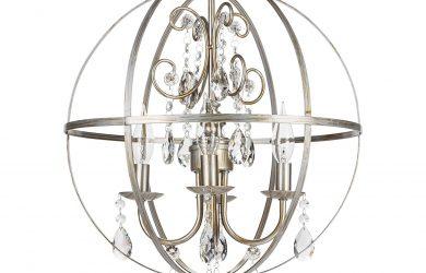 orb crystal swag chandelier 4 lights luna collection