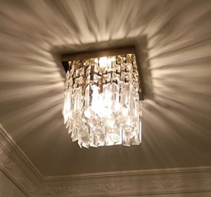 Moooni Crystal Chandelier Square Ceiling Lighting Fixture