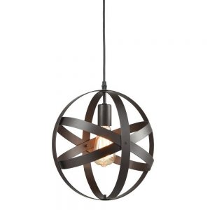 Truelite Industrial Metal Spherical Pendant Hanging Lighting Fixture