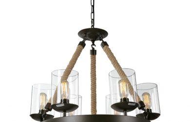 rustic industrial chandelier