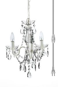 The Original Gypsy Color Mini Plug-In Crystal Chandelier, 3 Lights