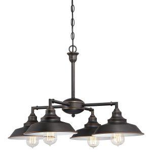 Westinghouse Iron Hill Semi-Flush Bronze Indoor Convertible Chandelier, 4 Lights