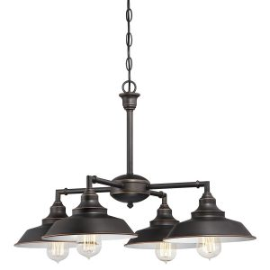 Westinghouse Iron Hill Semi-Flush Bronze Indoor Convertible Chandelier, 4 Lights
