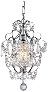 Whse of Tiffany RL4025 Jess Crystal Chandelier Chrome, 1 Light