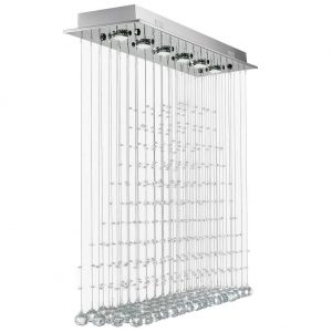 7PM Modern Raindrop Clear LED K9 Crystal Chandelier