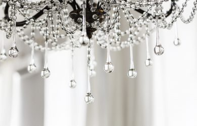 Crystal chandelier close up background