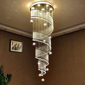 Saint Mossi Modern K9 Crystal Swirl Design Raindrop Chandelier