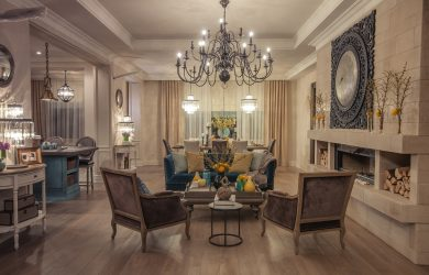 Chandelier in Living Room